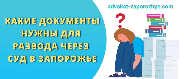 Какие документы нужны для развода через суд в Запорожье