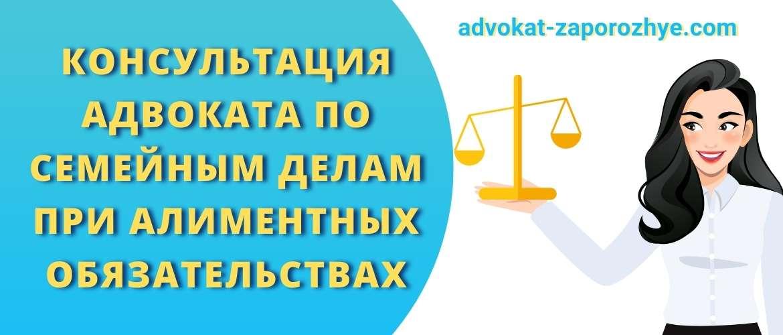 Консультация адвоката по семейным делам при алиментных обязательствах