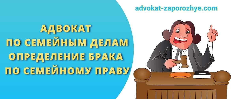 Адвокат по семейным делам определение брака по семейному праву
