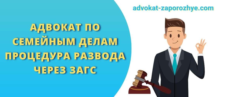 Адвокат по семейным делам процедура развода через ЗАГС