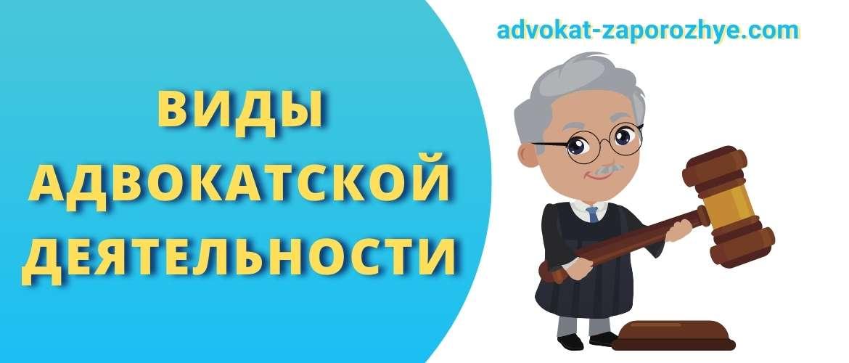 Виды адвокатской деятельности