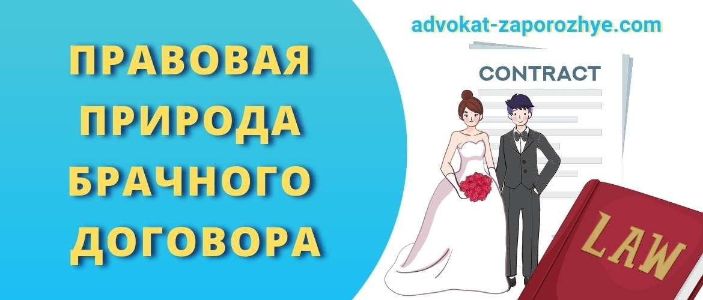 Правовая природа брачного договора