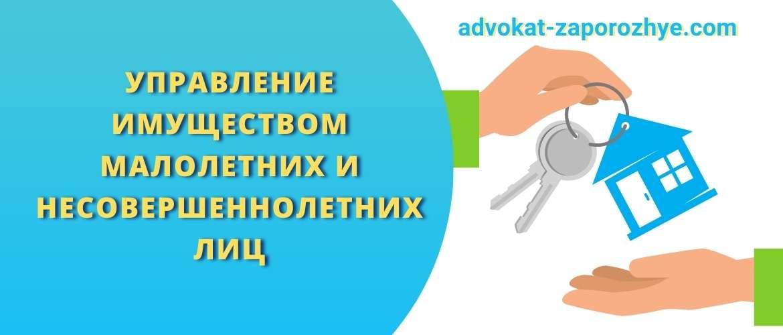 Управление имуществом малолетних и несовершеннолетних лиц
