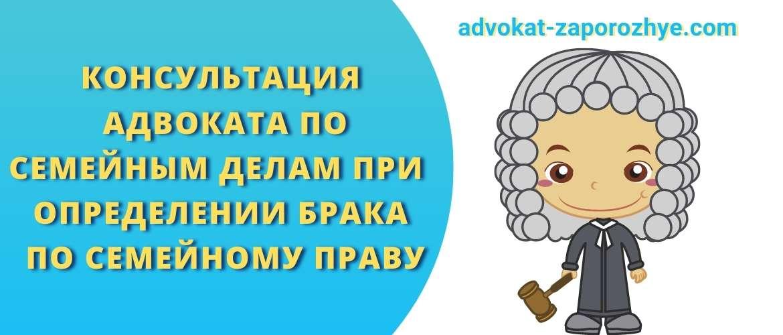 Консультация адвоката по семейным делам при определении брака по семейному праву