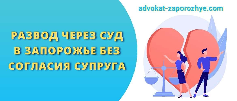 Развод через суд в Запорожье без согласия супруга