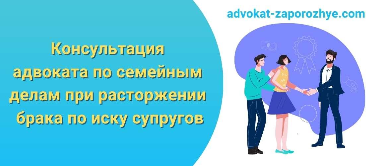 Консультация адвоката по семейным делам при расторжении брака по иску супругов