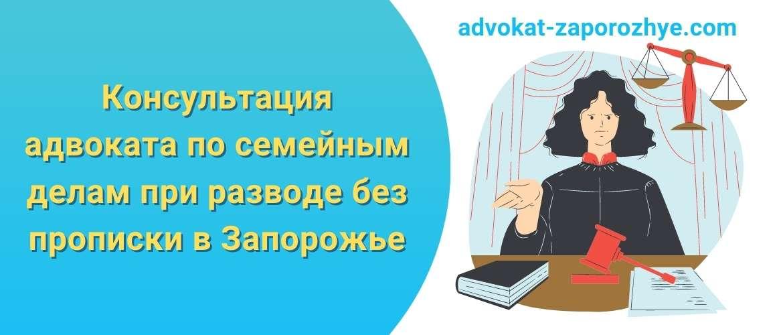 Консультация адвоката по семейным делам при разводе без прописки в Запорожье