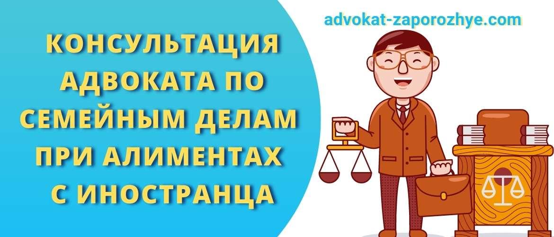 Консультация адвоката по семейным делам при алиментах с иностранца