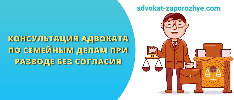 Консультация адвоката по семейным делам при разводе без согласия