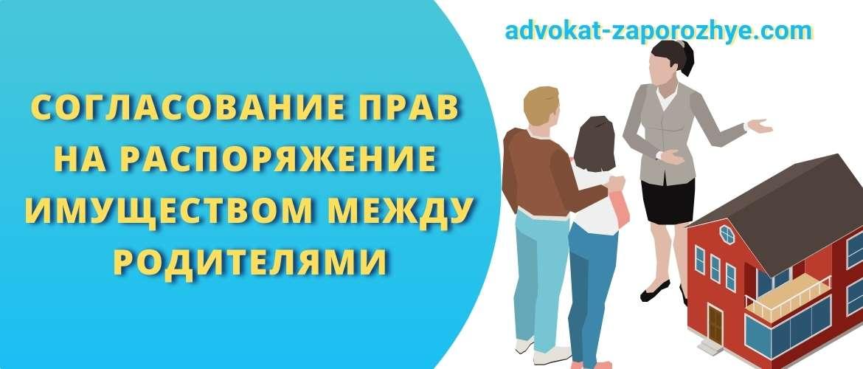 Согласование прав на распоряжение имуществом между родителями